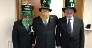 St.Patricks day at Thistle & Rose Lodge.