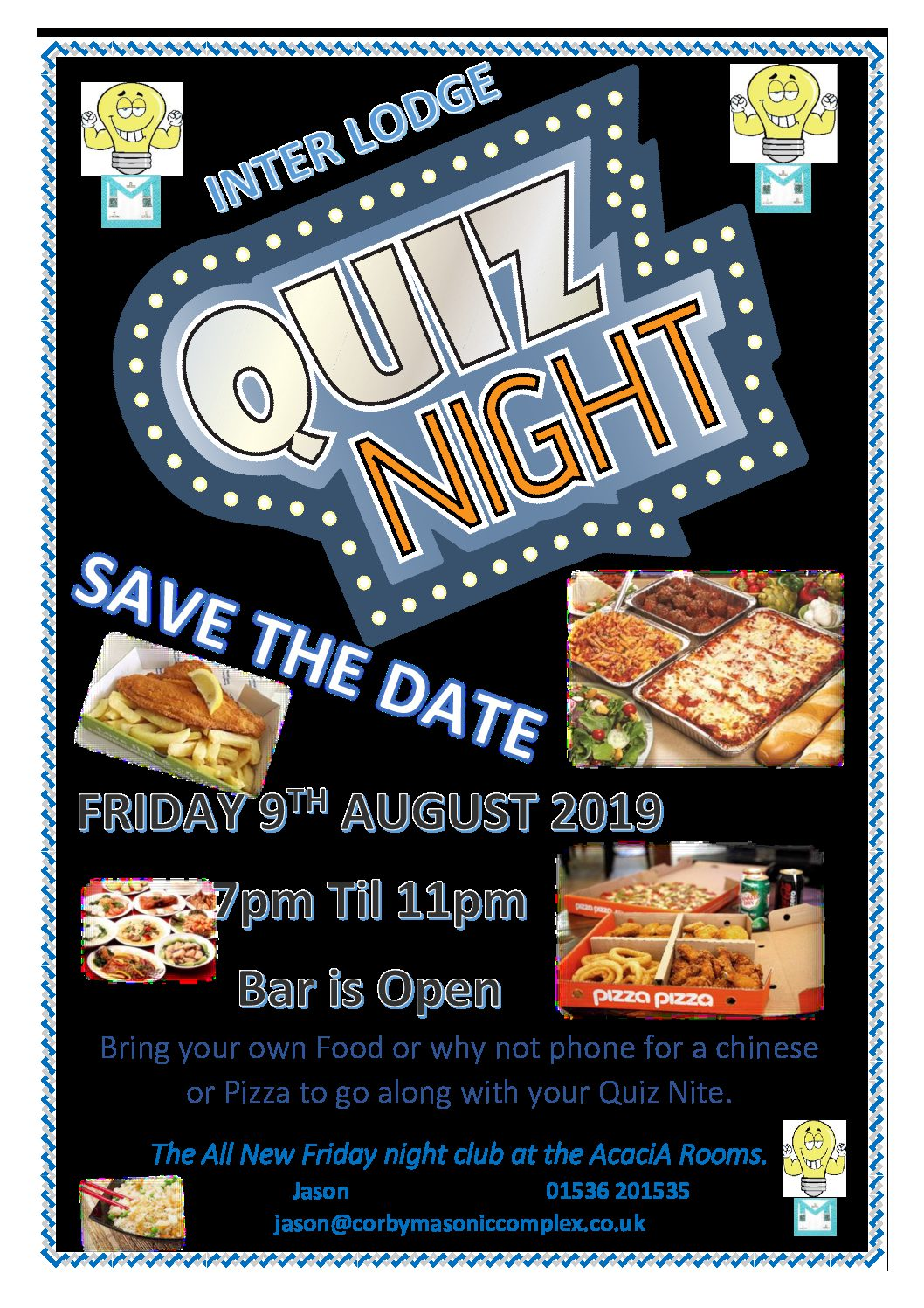 CMC Quiz Night – Friday 9th August – Support your Lodge